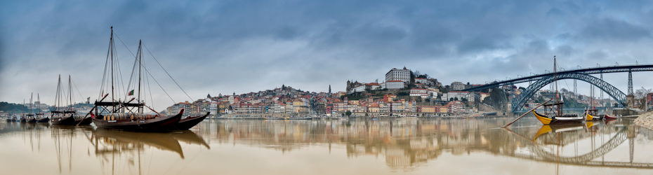 Cityscape of Oporto in Portugal.